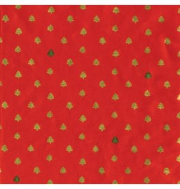 Caspari Christmas Gift Wrapping Paper Tiny Trees Continuous Roll 8ft