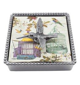 Mariposa Mariposa Napkin Box Wieght Set 4021-C Humming Bird Beaded Napkin Box