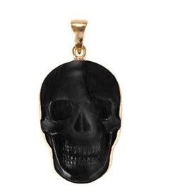 Alchemia Alchemia Jewelry Obsidian Skull Pendant