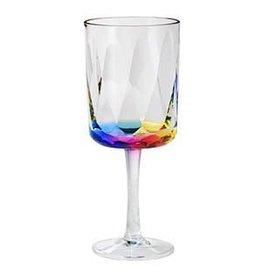 Merritt International Drinkware Acrylic 25620 Rainbow Prism Wine Glass 16oz Merritt