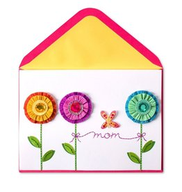 Papyrus Greetings Mothers Day Card Crepe Paper Flower