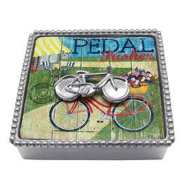 Mariposa Mariposa Napkin Box Wieght Set 4007-C Bicycle Beaded Napkin Box