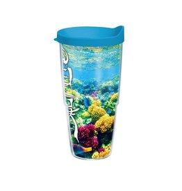 Tervis Tumbler w Lid 24oz 1130278 Salt Life Coral Reef