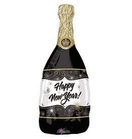 Burton and Burton Happy New Year Balloon 36 inch Champagne Bottle
