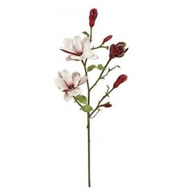 Winward Silk Flowers Artificial 95609.BU Tree Magnolia Branch-Burgundy