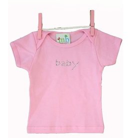 Mama and Bambino Infant Baby Tee with Rhinestone Bling T-Shirt Pink Baby