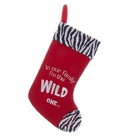 Kurt Adler Christmas Stocking Felt Family Wild One Stocking C9754-E