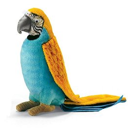 Hansa Toy Plush Parrot Yellow Blue 6.25 inches 3325