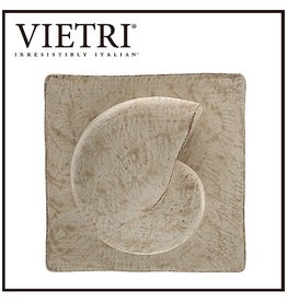 Vietri Nautilus Shell Square Plaque -Sculpture Wall Art