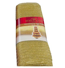 Kurt Adler Decorative Net Fabric Mesh 9ft x 31.5in Gold PL0799-C