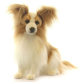 Hansa Toy Papillon Spitz Dog Beige Sitting 3993 by Hansa Toy