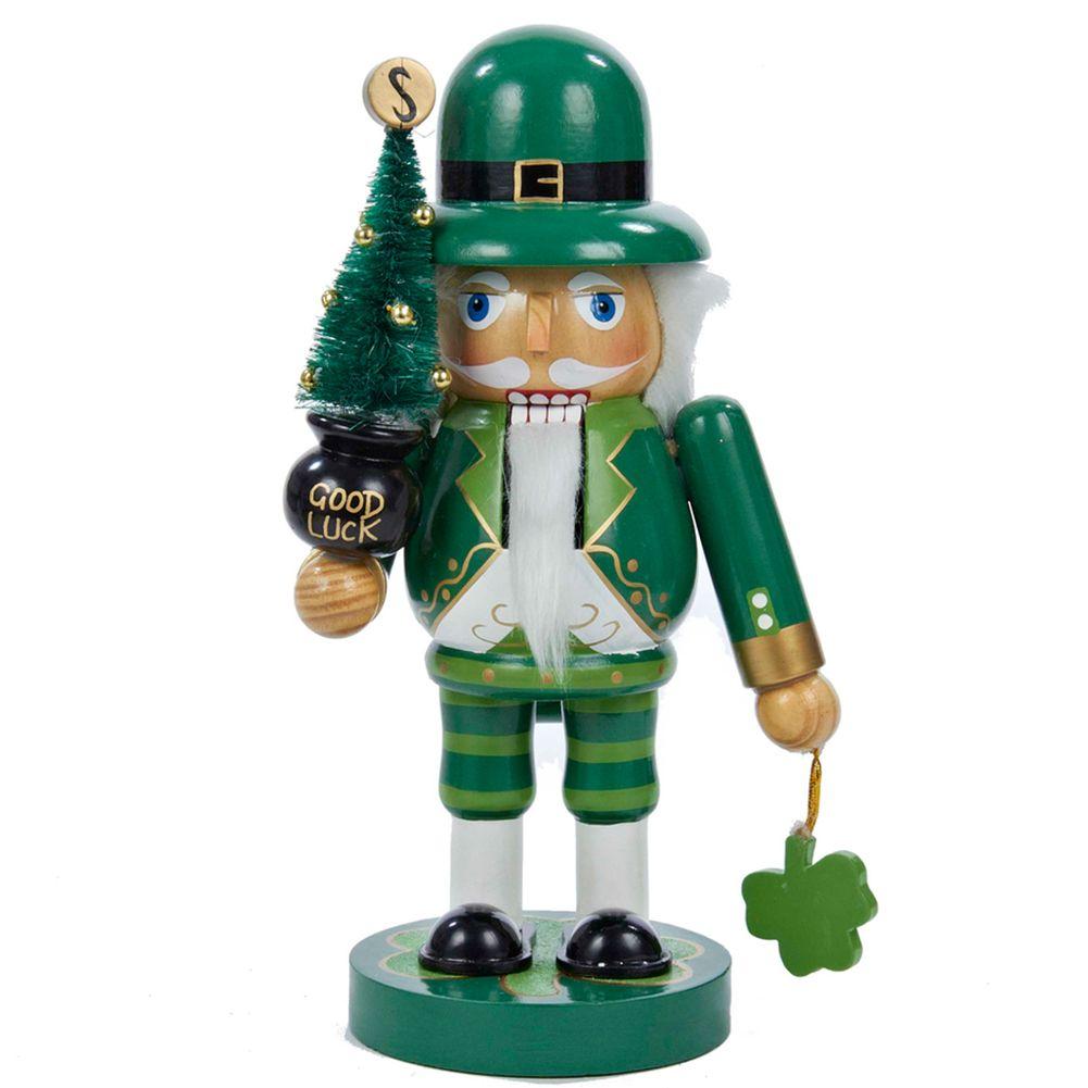 Wooden Irish Nutcracker w Good Luck Christmas Tree J1469 Kurt Adler ...