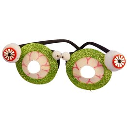 Kurt Adler Halloween Glittered Eyeball Shaped Glasses HW1637-EYE Kurt Adler