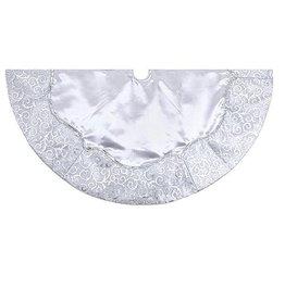 Kurt Adler Christmas Tree Skirts H5248 Silver Satin Tree Skirt 48 Inch