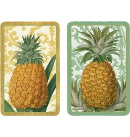 Caspari Playing Cards 2 Decks of Royal Pineapple Bridge Cards PC114 Caspari