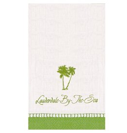 Caspari Lauderdale-By-The-Sea Guest Napkins w Beach Palm Trees 18PK