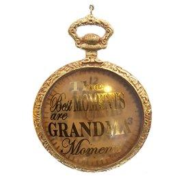 Kurt Adler Timeless Sentiments Pocket Watch Ornament Moments Grandma