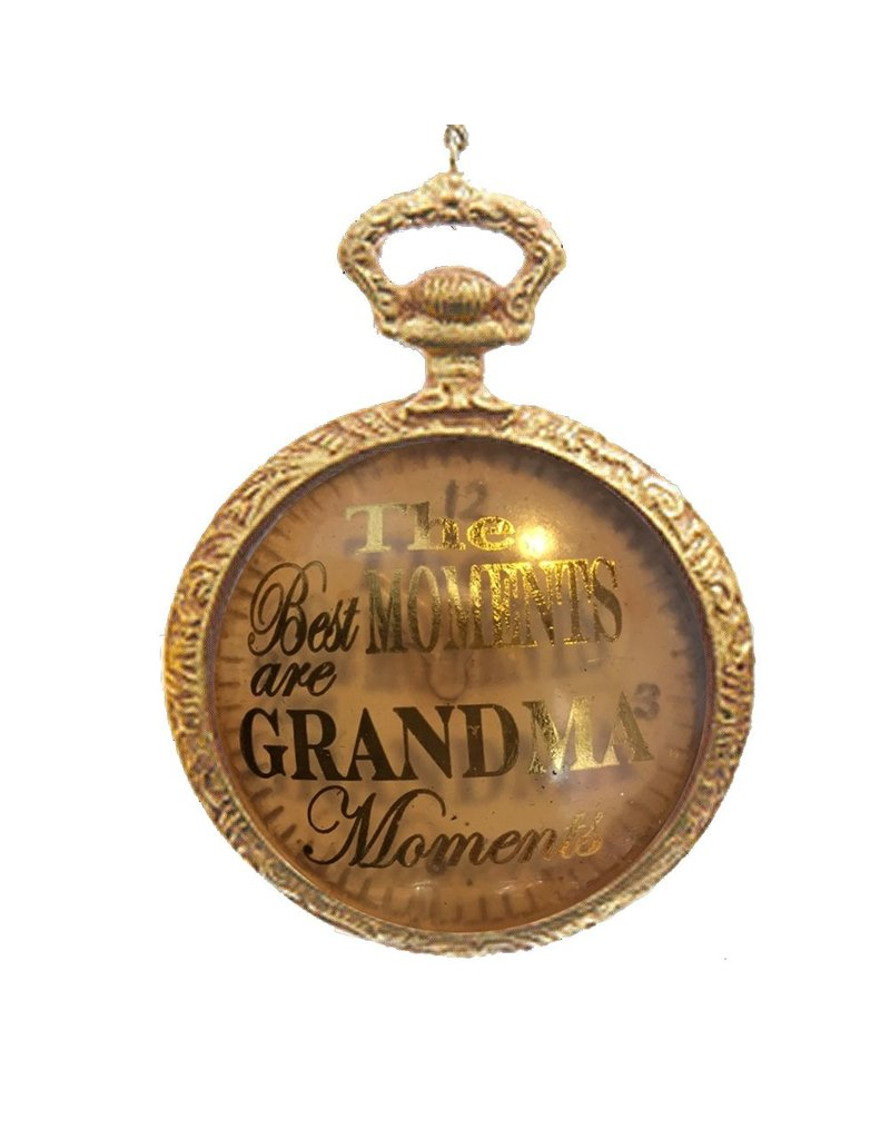 Kurt Adler Timeless Sentiments Pocket Watch Ornament Moments Grandma