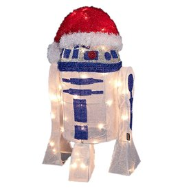 Kurt Adler Star Wars R2D2 Lawn Decoration 50-Light 24in SW9133 Kurt Adler