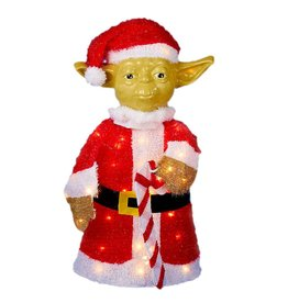 Kurt Adler Star Wars Yoda Lawn Decoration 50-Light 28in SW9143 Kurt Adler