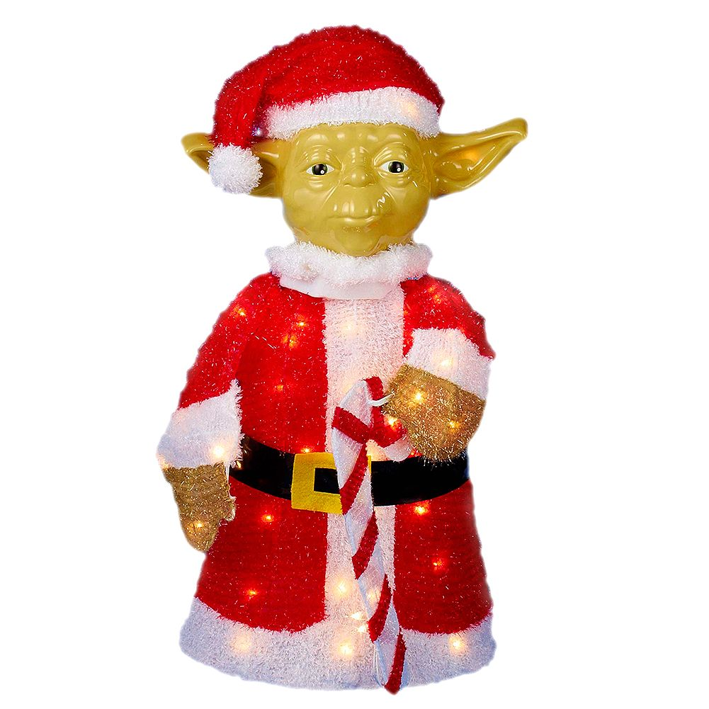 kurt adler star wars yoda lawn decoration 50 light 28in sw9143 kurt adler