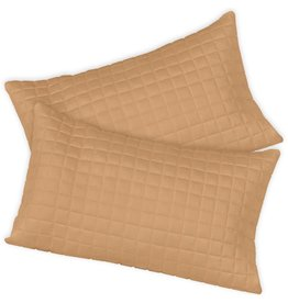 Home Source International Bamboo Box Quilt Boudoir Shams 12x18 Copper Home Source International