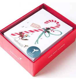 Papyrus Greetings Boxed Christmas Cards Glitter Candy Cane by Papyrus 20pk