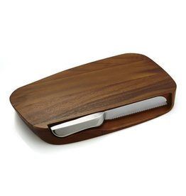 Nambe Blend Bread Board with Knife MT0731