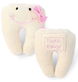 Mud Pie Pink Tooth Fairy Pillow w Loose Tooth Pocket 211A020 by Mud Pie Gifts