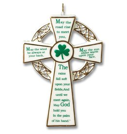 Kurt Adler Irish Cross Ornament Porcelain w Irish Sayings J4102 Kurt Adler
