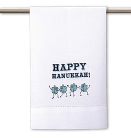 Peking Handicraft Judaic Happy Hanukkah Guest Hand Towel by Peking