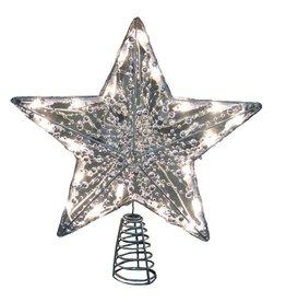 Kurt Adler Christmas Tree Topper 20 Light Star Tree Topper w Clear Lights 18inch
