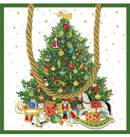 Caspari Oh Christmas Tree Gift Bag Sm 9664B1.5