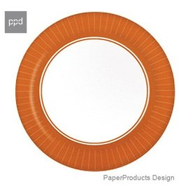 PPD Paper Product Design Paper Plates 88166 Terracotta Dinner Plate