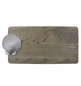 Mariposa Scallop Shell Wood Cheese Serving Board 6007