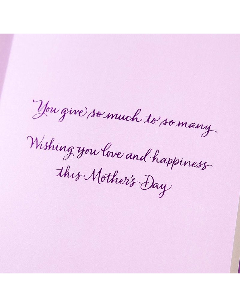 Papyrus Greetings Mothers Day Card Flower in Calligraphy