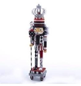 Kurt Adler Christmas Nutcracker Black White Red with Crown HA0204 Kurt Adler