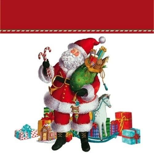 caspari christmas gift bag small 575 sq inch coming to town santa