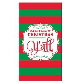 Slant Christmas Guest Towel Paper 16pk Merry Christmas Yall F142316 by Slant