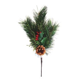 Darice Pine Berry Cone Cedar Pick DC-4666 Christmas Flowers Floral