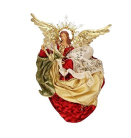 Mark Roberts Christmas Decorations Flying Angel w Harp 18 Inch