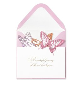 Papyrus Greetings Wedding Card Accordion Butterfly by Papyrus