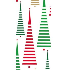 Caspari Paper Facial Tissues Christmas Tree Between the Lines Hankies 12120M