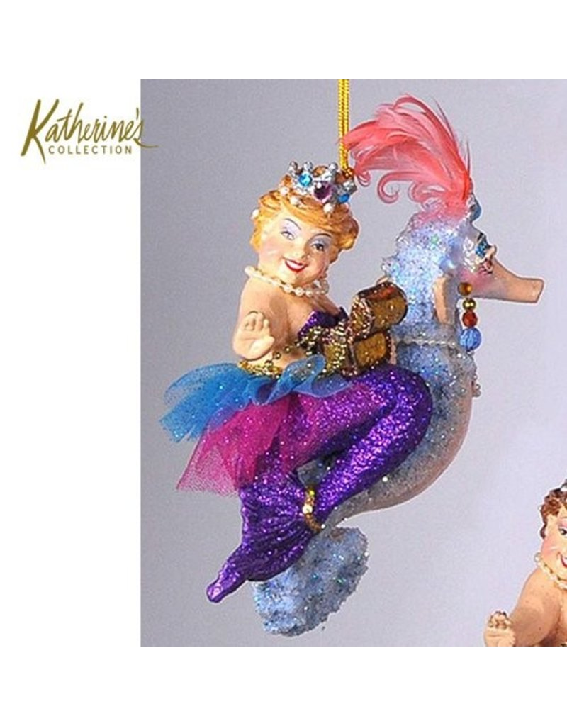 Kissing fish ornament - Katherine S Collection Kissing Fish Ornaments Seahorse