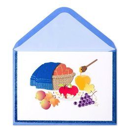 papyrus greetings jewish new years card challah basket by papyrus cards