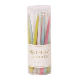 Caspari Birthday Candles CA951 Birthday Candles Pastels