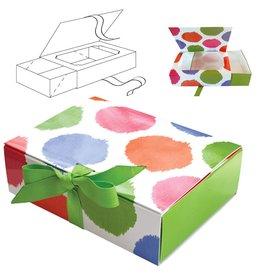 Caspari Paper Gift Box w Sliding Tray Food Grade 2pk Bebelle PFB003 Caspari
