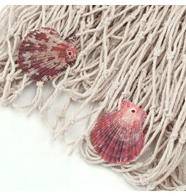 Gallerie II Decorative Fishing Net w Shells Draping Wall Background 47x98in