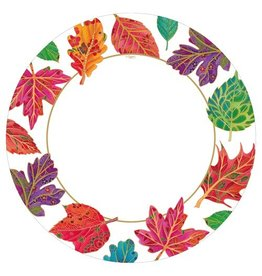 Caspari Fall Thanksgiving Paper Dinner Plates 8ct Jeweled Autumn Leaves  sc 1 st  Digs N Gifts & Thanksgiving Paper Napkins Plates - Digs N Gifts