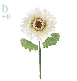 Burton and Burton Flowers | Spring Decorations 9713211D White Silk Gerbera Daisy